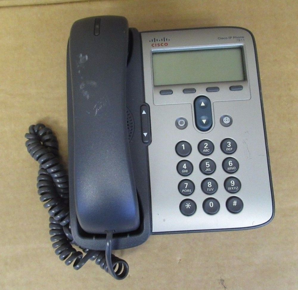 Cisco IP 7911 Business VoIP LAN Wired Office Phone Handset Included 68-2779-09